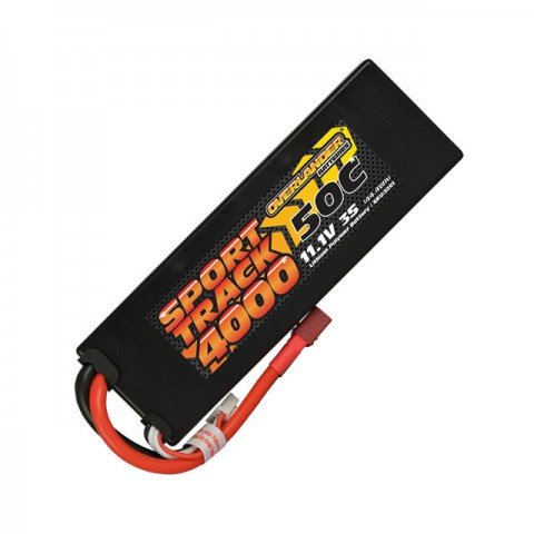 Overlander Sport Track 11.1v 3S 4000mAh LiPo 50C Hardcase Battery with Deans Connector - OL-3261