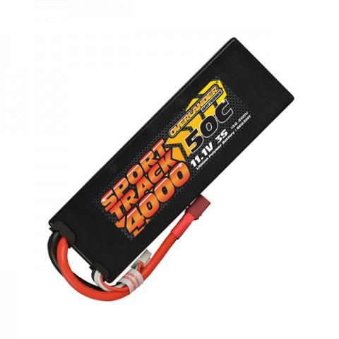 Overlander Sport Track 11.1v 3S 4000mAh LiPo 50C Hardcase Battery with Deans Connector - OL-3261