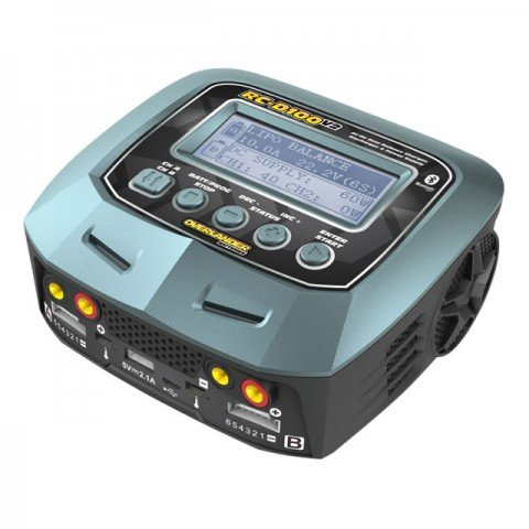 Overlander RC D100 V2 AC/DC Dual Balance Charger/Discharger for LiPo, LiFe, LiHV and NiMh Batteries - OL-3317