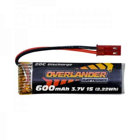Overlander 3.7v 1S 600mAh 20C LiPo Battery with JST Connector - OL-3431