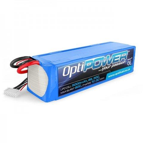 Optipower 5000mAh 22.2v 6S 30C LiPo Battery - OPR50006S