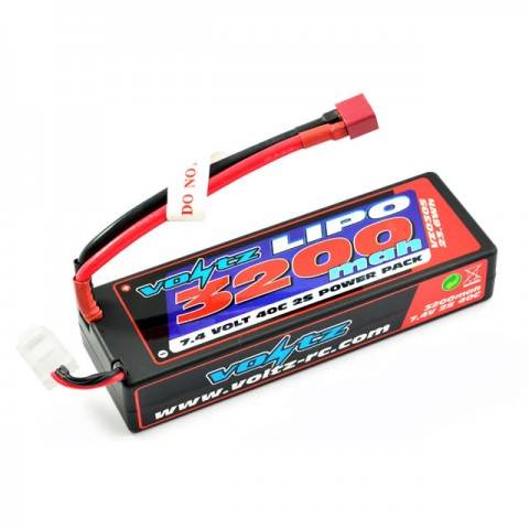 Voltz 3200mAh 7.4v 2S 40C Hard Case LiPo Stick Battery Pack with Deans Connector - VZ0305