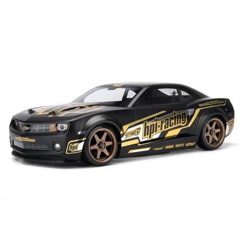 HPI 2010 Chevrolet Camaro Painted Matt Black Body Shell (200mm) - 106981