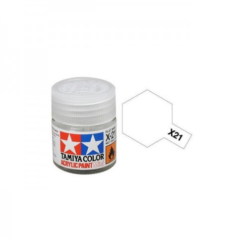 Tamiya Mini X-21 Flat Base Acrylic Paint 10ml Bottle - 81521