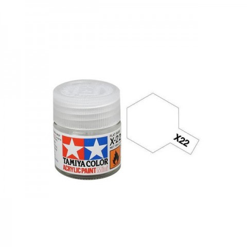 Tamiya Mini X-22 Clear Acrylic Paint 10ml Bottle - 81522