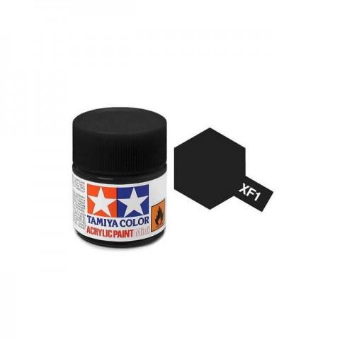 Tamiya Mini XF-1 Flat Black Acrylic Paint 10ml Bottle - 81701
