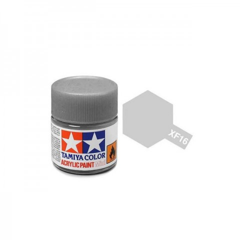 Tamiya Mini XF-16 Flat Aluminium Acrylic Paint 10ml Bottle - 81716