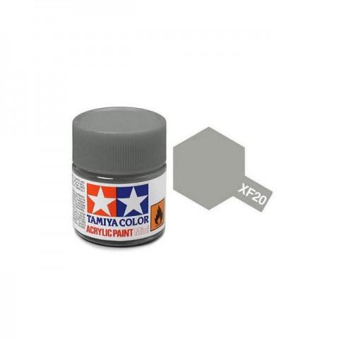 Tamiya Mini XF-20 Flat Medium Grey Acrylic Paint 10ml Bottle - 81720