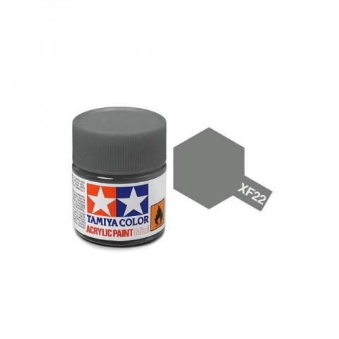 Tamiya Mini XF-22 Flat RLM Grey Acrylic Paint 10ml Bottle - 81722