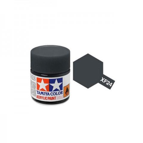 Tamiya Mini XF-24 Flat Dark Grey Acrylic Paint 10ml Bottle - 81724