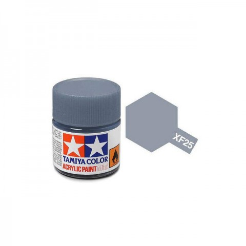 Tamiya Mini XF-25 Light Sea Grey Acrylic Paint 10ml Bottle - 81725