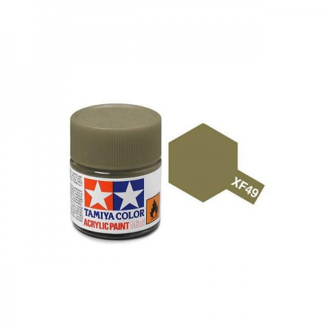 Tamiya Mini XF-49 Flat Khaki Acrylic Paint 10ml Bottle - 81749