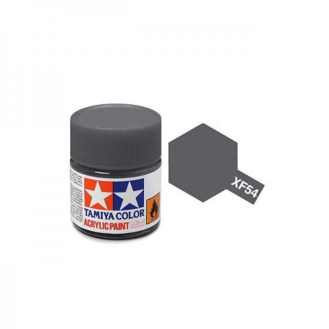 Tamiya Mini XF-54 Flat Dark Sea Grey Acrylic Paint 10ml Bottle - 81754
