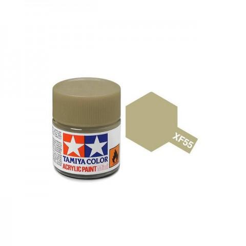 Tamiya Mini XF-55 Flat Dark Tan Acrylic Paint 10ml Bottle - 81755