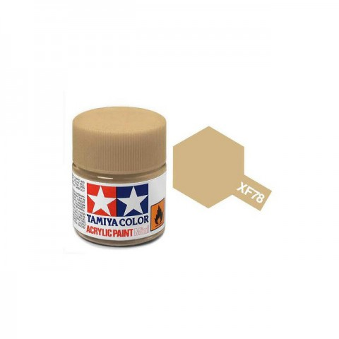 Tamiya Mini XF-78 Flat Wooden Deck Acrylic Paint 10ml Bottle - 81778