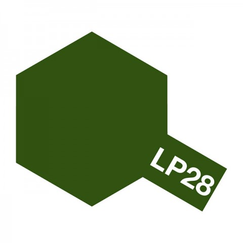 Tamiya LP-28 Olive Drab Lacquer Paint Bottle (10ml) - 82128