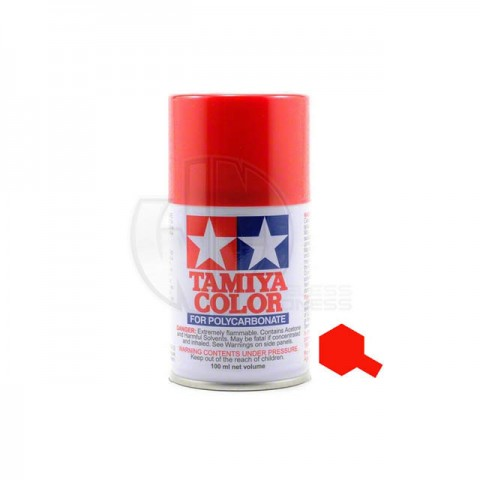 Tamiya PS-2 Red 100ml Polycarbonate Spray Paint - 86002