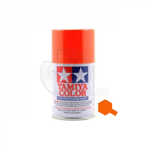 Tamiya PS-7 Orange 100ml Polycarbonate Spray Paint - 86007