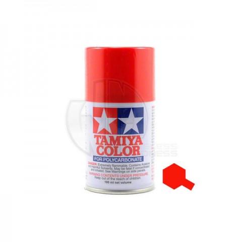 Tamiya PS-34 Bright Red 100ml Polycarbonate Spray Paint - 86034