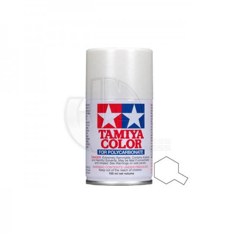 Tamiya PS-57 Pearl White 100ml Polycarbonate Spray Paint - 86057