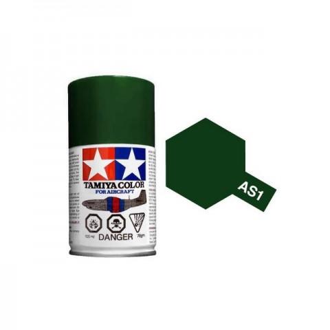 Tamiya AS-1 Dark Green (IJN) 100ml Spray Paint for Scale Models - AS86501