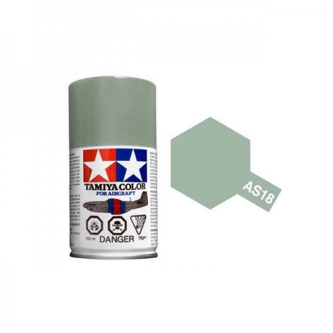 Tamiya AS-18 Light Grey (IJA) 100ml Spray Paint for Scale Models - AS86518