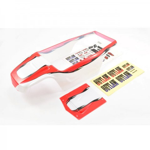 FTX Outlaw Brushed Pre-Painted Body Shell with Decals (Red) - FTX8350R