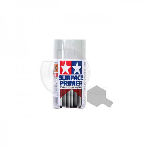 Tamiya 100ml Surface Primer Spray for Plastic and Metal (Grey) - TAM-87026