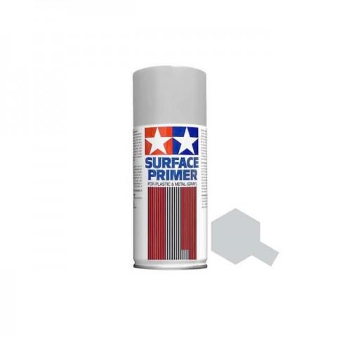 Tamiya 180ml Fine Surface Primer Spray for Plastic and Metal (Light Grey) - TAM-87064