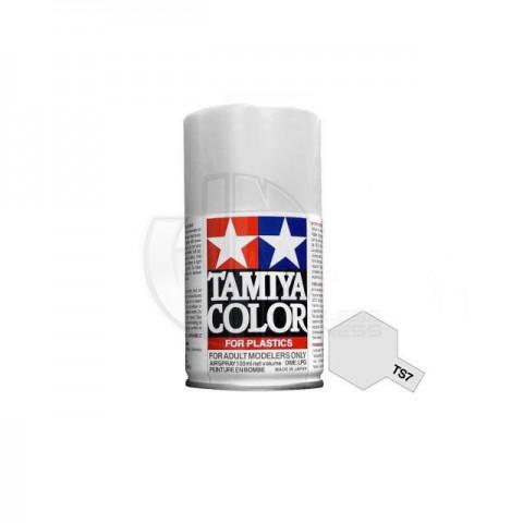 Tamiya TS-7 Racing White 100ml Acrylic Spray Paint - TS-85007