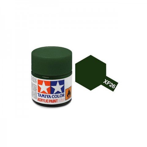 Tamiya Mini XF-26 Deep Green Acrylic Paint 10ml Bottle - 81726
