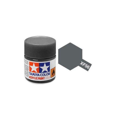 Tamiya Mini XF-56 Metallic Grey Acrylic Paint 10ml Bottle - 81756