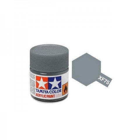 Tamiya Mini XF-75 Flat IJN Grey Kure Arsenal Acrylic Paint 10ml Bottle - 81775