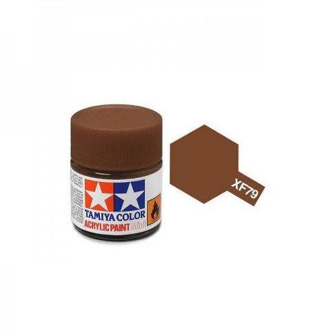 Tamiya Mini XF-79 Flat Linoleum Deck Brown Acrylic Paint 10ml Bottle - 81779
