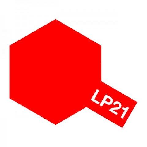 Tamiya LP-21 Gloss Italian Red Lacquer Paint Bottle (10ml) - 82121