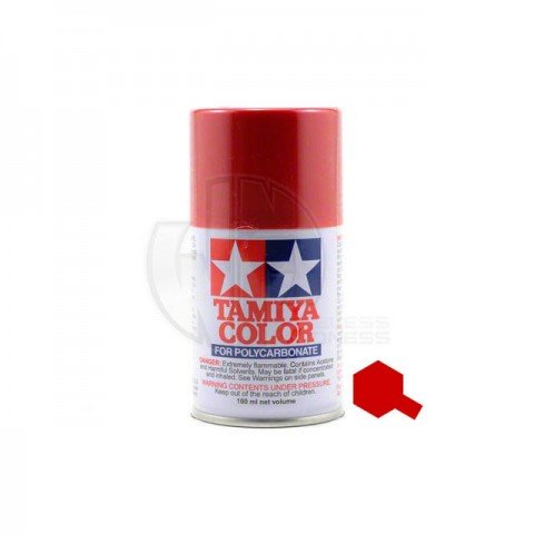 Tamiya PS-15 Metallic Red 100ml Polycarbonate Spray Paint - 86015