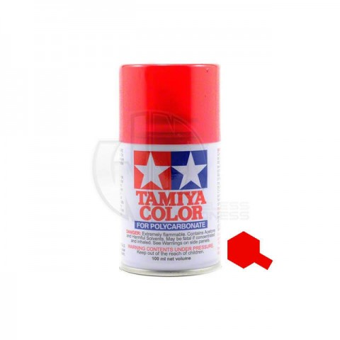 Tamiya PS-37 Translucent Red 100ml Polycarbonate Spray Paint - 86037