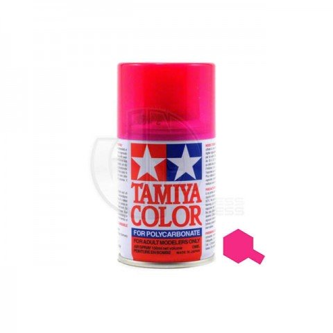 Tamiya PS-40 Translucent Pink 100ml Polycarbonate Spray Paint - 86040
