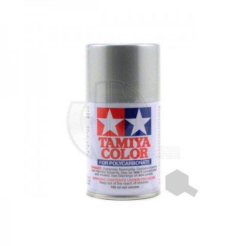 Tamiya PS-41 Bright Silver 100ml Polycarbonate Spray Paint - 86041