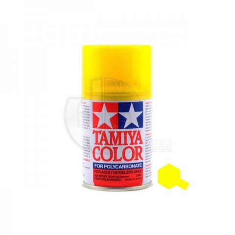 Tamiya PS-42 Translucent Yellow 100ml Polycarbonate Spray Paint - 86042