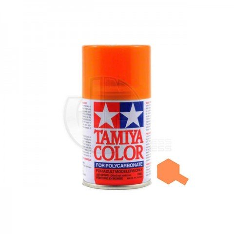 Tamiya PS-43 Translucent Orange 100ml Polycarbonate Spray Paint - 86043