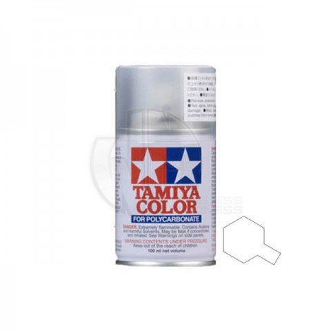 Tamiya PS-58 Pearl Clear 100ml Polycarbonate Spray Paint - 86058
