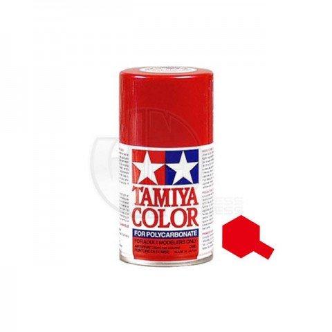 Tamiya PS-60 Bright Mica Red 100ml Polycarbonate Spray Paint - 86060