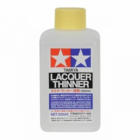 Tamiya Lacquer Paint Thinner and Cleaner (250ml) - 87077