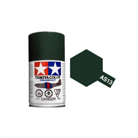 Tamiya AS-13 Green (USAF) 100ml Spray Paint for Scale Models - AS86513