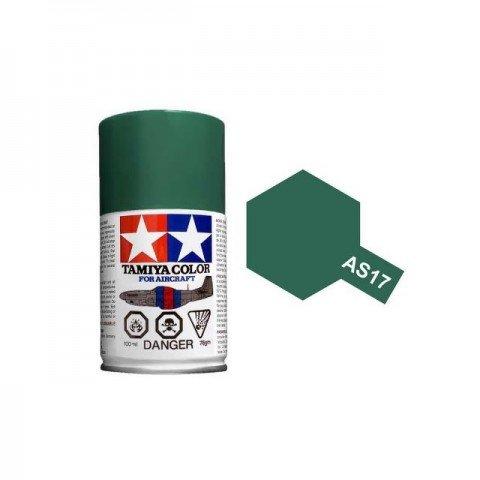 Tamiya AS-17 Dark Green (IJA) 100ml Spray Paint for Scale Models - AS86517