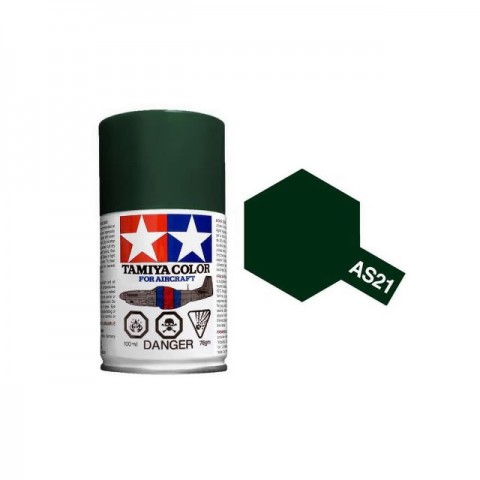 Tamiya AS-21 Dark Green 2 (IJN) 100ml Spray Paint for Scale Models - AS86521
