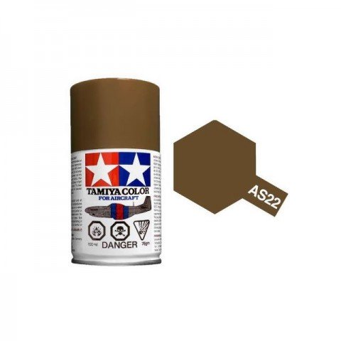 Tamiya AS-22 Dark Earth 100ml Spray Paint for Scale Models - AS86522