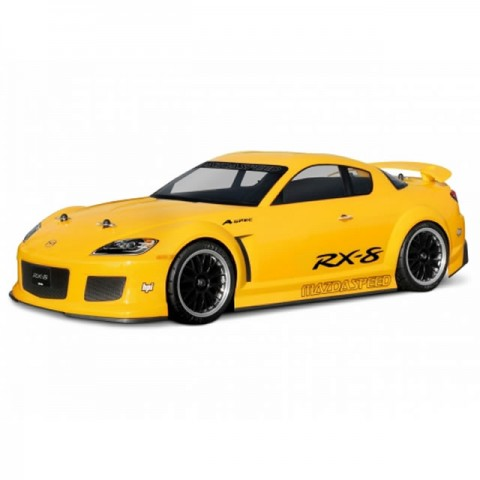 HPI Mazda RX-8 Mazdaspeed A Spec 1/10 Scale Clear Body Shell with Decals (200mm) - HPI-7488