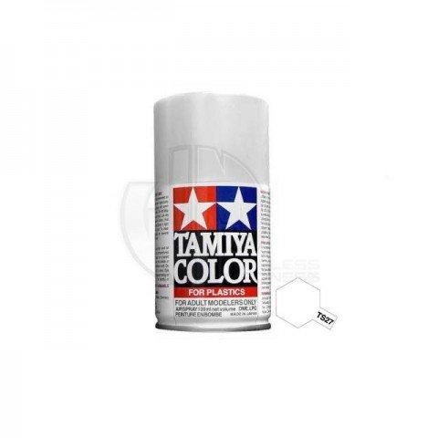 Tamiya TS-27 Matt White 100ml Acrylic Spray Paint - TS-85027
